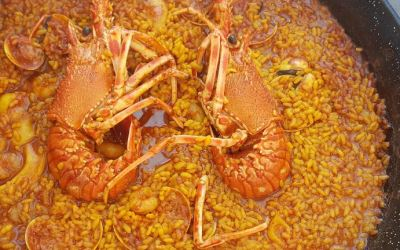 Receta de arroz meloso con langosta