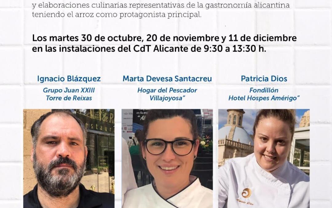 """""""Alicante ciudad del arroz"""" quiere convertir a cocineros y chefs en auténticas autoridades en los platos con este producto"""