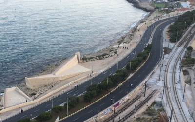 Zonas peatonales y nuevos espacios para facilitar los paseos y hacer deporte los fines de semana en Alicante