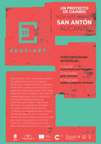EDUSIART. RUTA DE ARTE URBANOEN EL SAN ANTÓN.ALICANTE. @ BARRIO DE SAN ANTON (JUNTO A LAS CIGARRERAS) | Madrid | Comunidad de Madrid | España