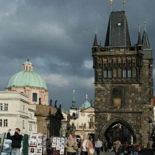 Prag-Auf der Karlsbrücke