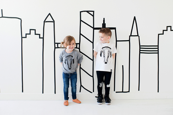 Super modern and super fun children's apparel from Badger + Rue