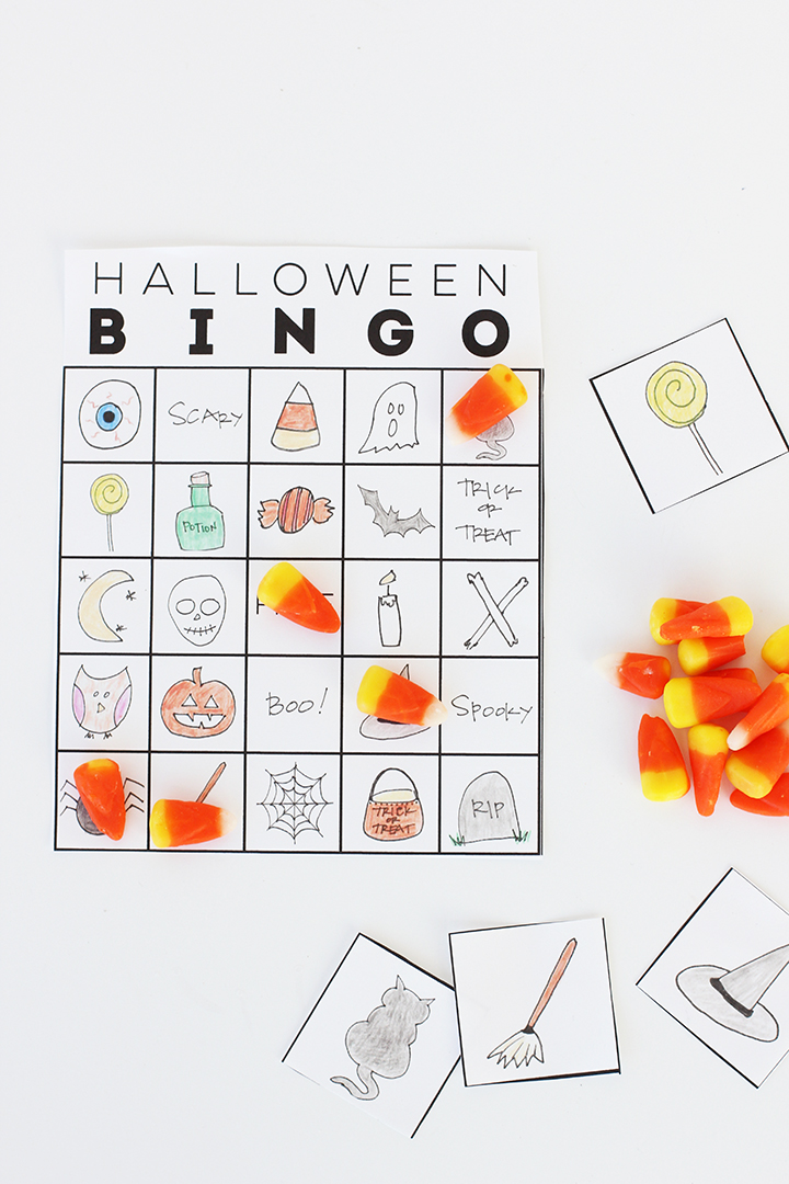 Free Printable Halloween Bingo Game for the kids.