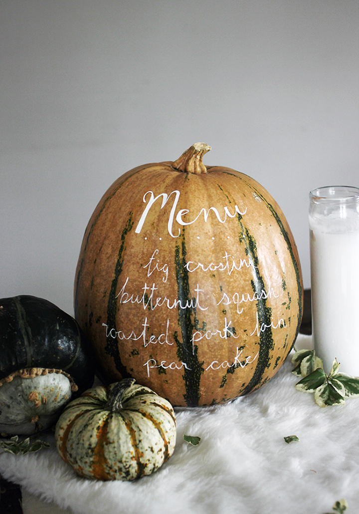 Try making this menu pumpkin for Halloween or Thanksgiving from The Merrythought