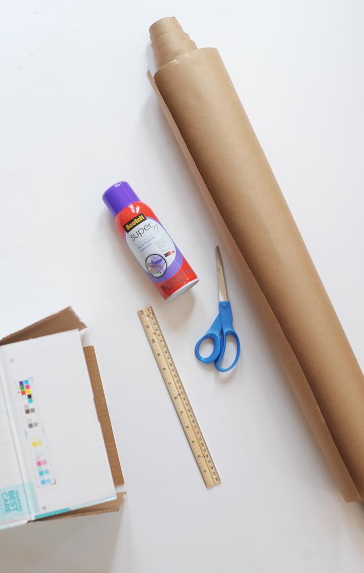 DIY upcycled diaper box storage system