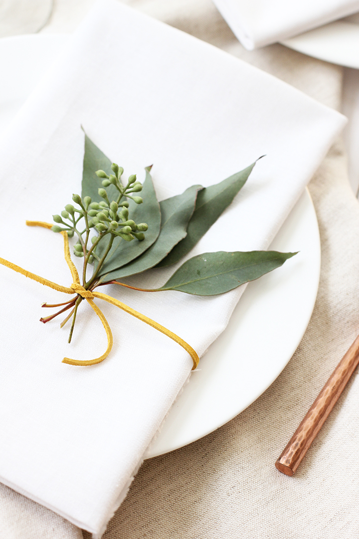 Eucalyptus Thanksgiving Placesetting \ alice & lois
