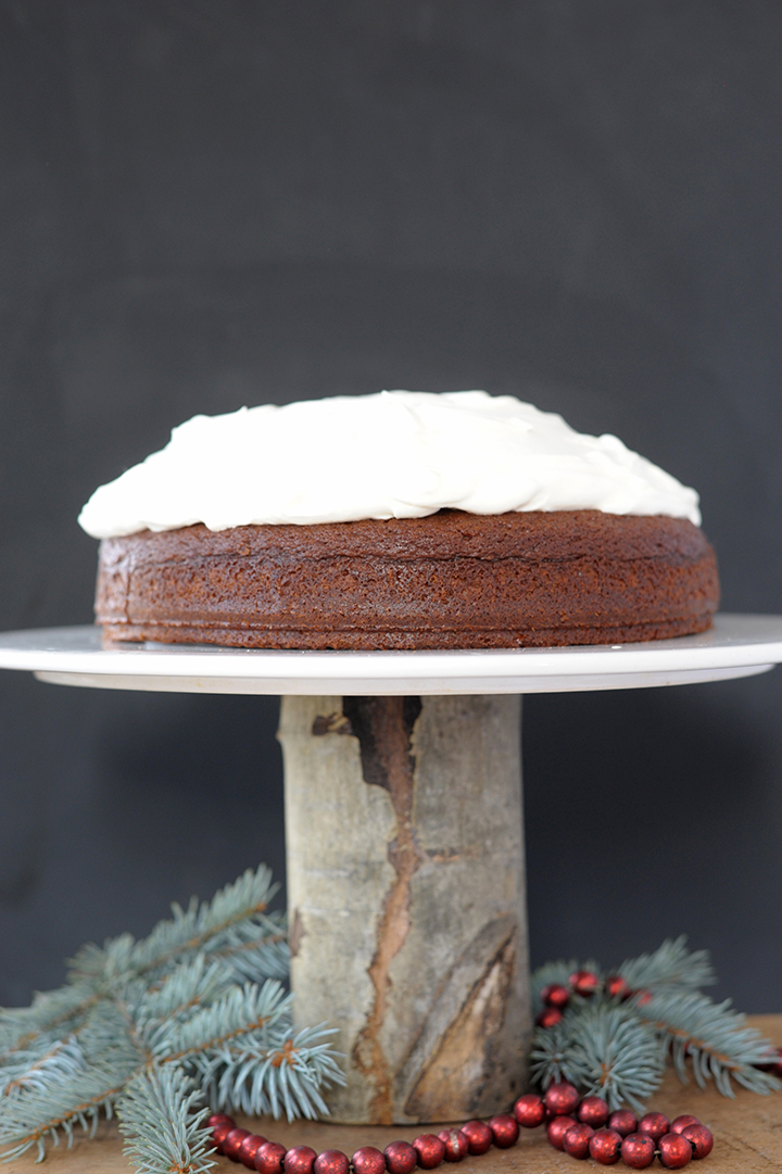 Love making this amazing gingerbread cake with lemon whipped cream for Christmas.