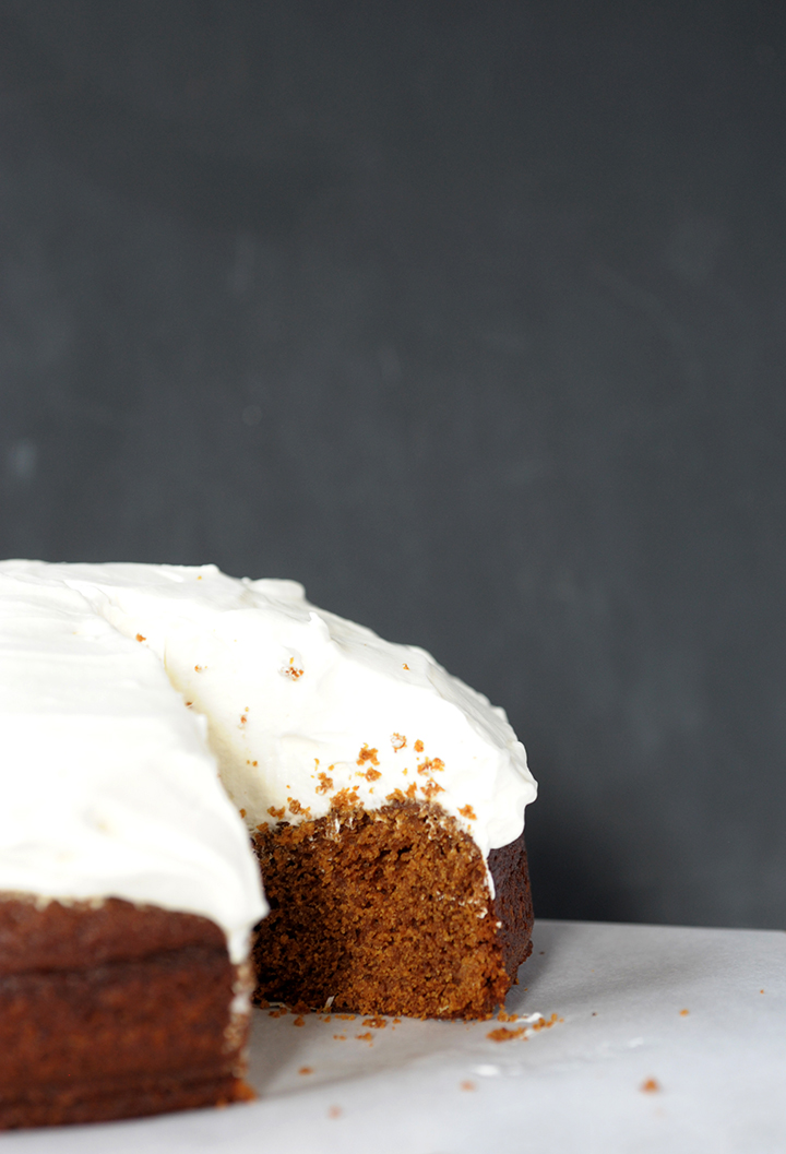 Love this gingerbread cake recipe topped with lemon whipped cream.