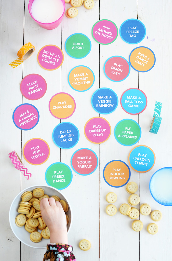 Download and print this free printable – it's 20 Indoor Activities for Kids.