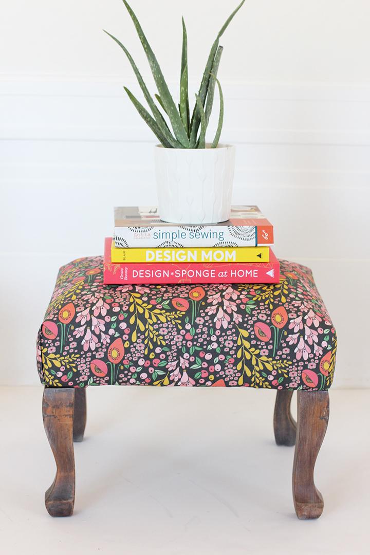 DIY Upholstered Stool Tutorial