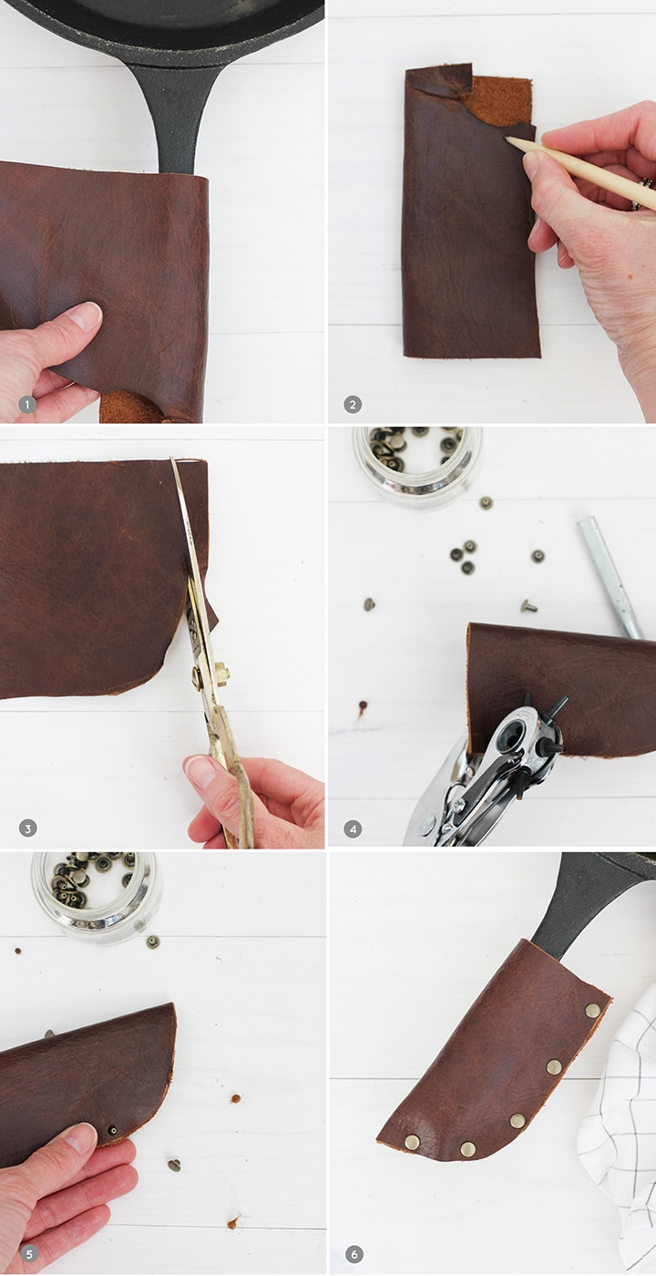 DIY Leather Pan Handle Potholder