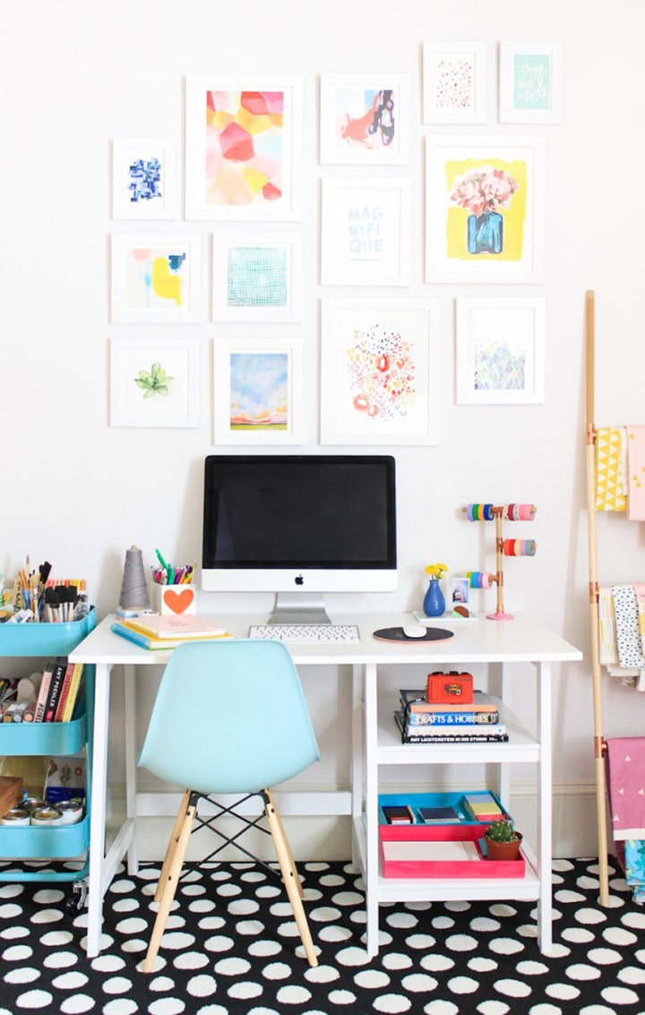 Home Crush Office Inspiration image via The Crafted Life
