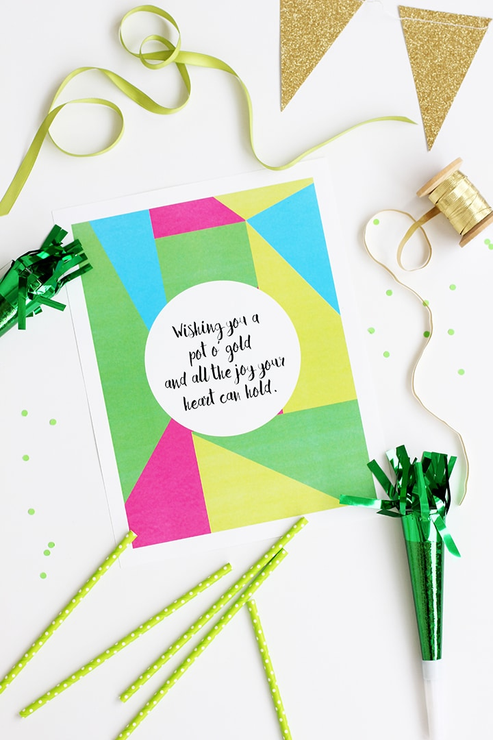 St Patrick's Day Free Printable | alice & lois