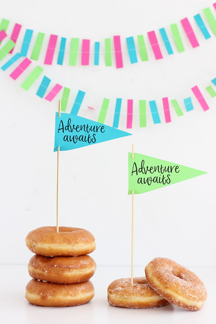 Adventure Awaits Printable Pennant with DIY Garland