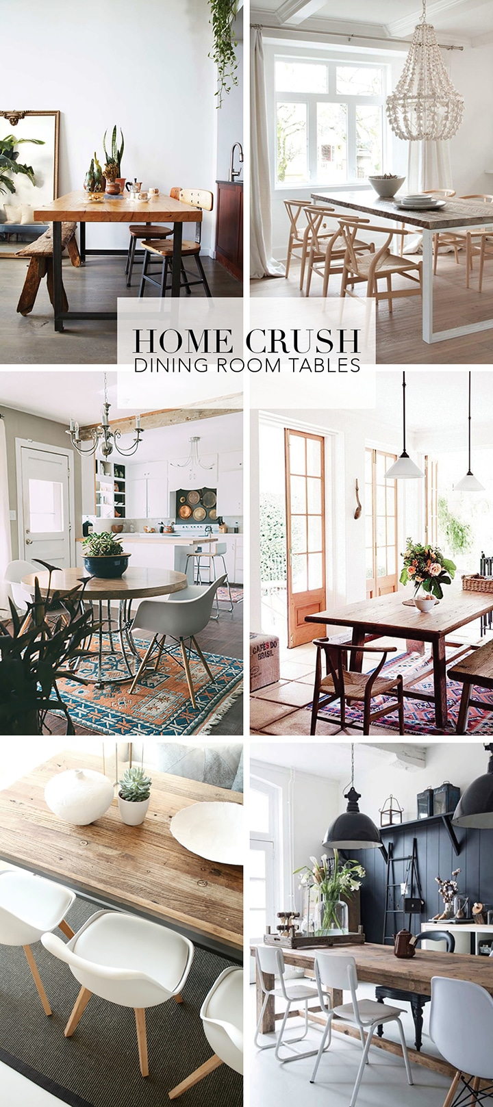 Love these dining room tables, great inspiration.