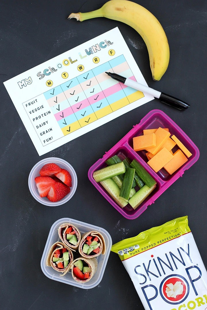 Free Printable School Lunch Packing List
