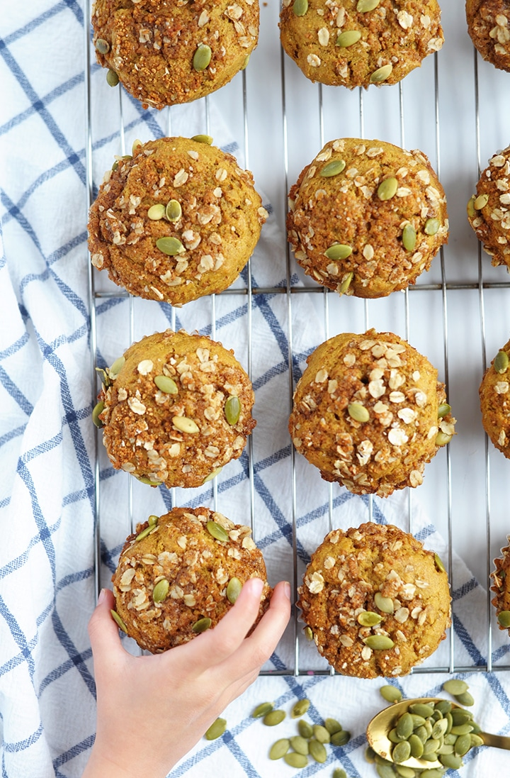 A healthier take on fall's favorite Pumpkin Muffin recipe.
