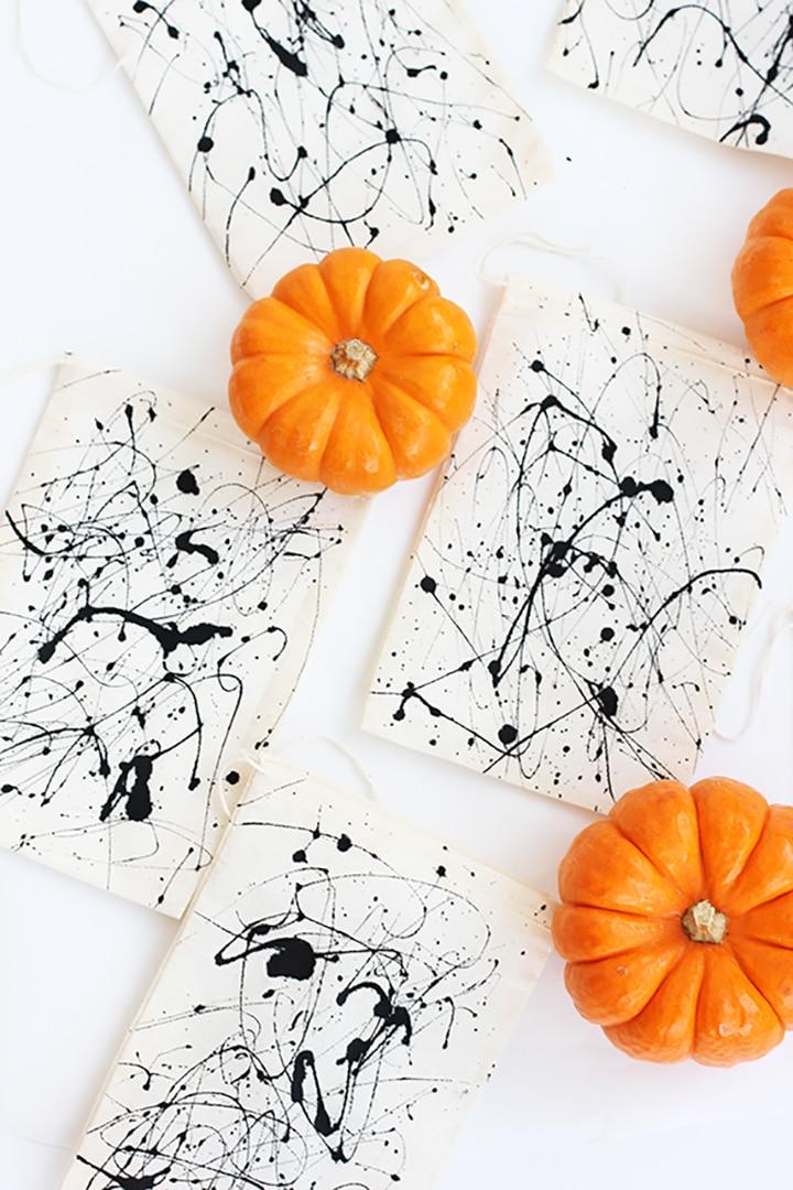 DIY Splatter Paint Halloween Bag
