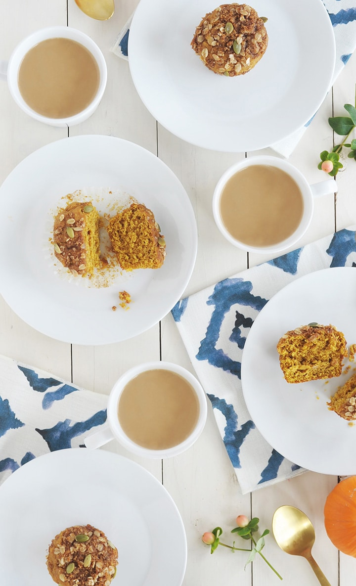 Start your morning right with these Healthy Pumpkin Muffins.