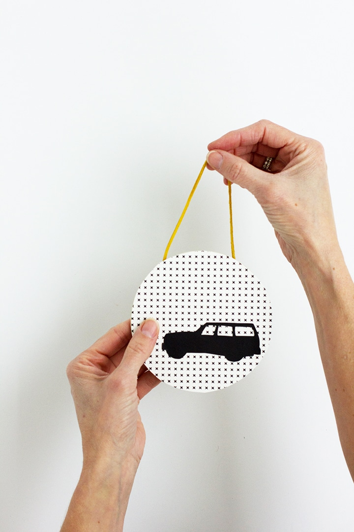 DIY Modern Silhouette Car Ornament