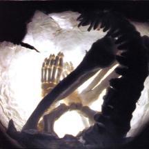 Petit squelette, terre et latex. Alice Heit, 2000..