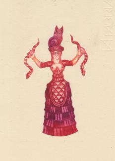 déesse serpents alice heit