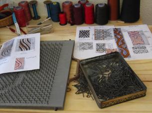 planche à clous, tissage, art textile, alice heit
