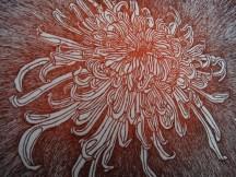 """""""Chrysanthème Japonaise"""", eau forte sur zinc, Alice Heit 2016"""