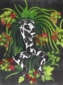 Immersion végétale, tirage unique, Alice Heit 2017.