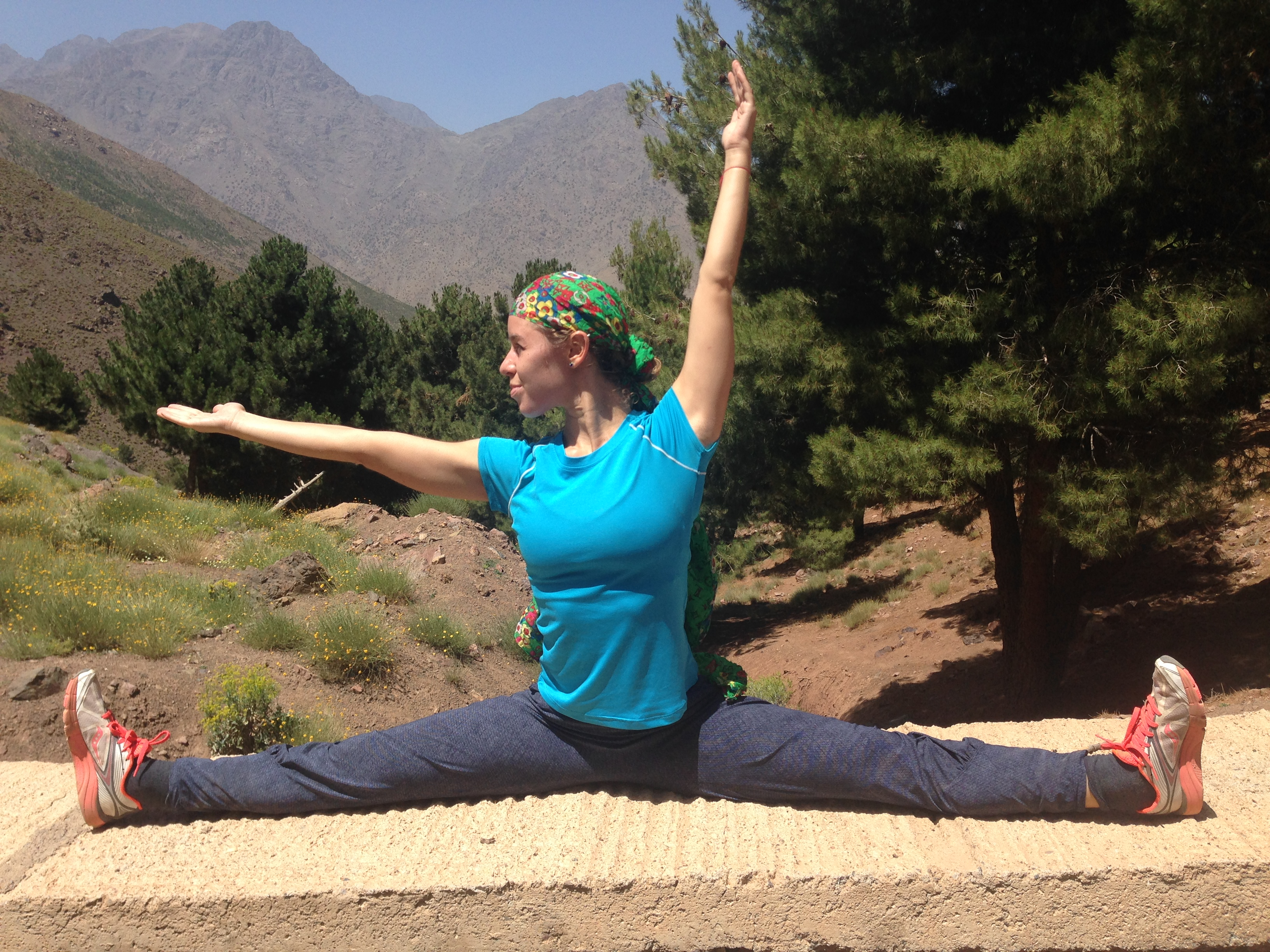 Alex demonstrating in the Atlas Mountains