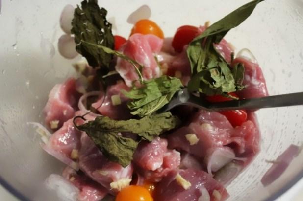 brochettes de porc et riz à l'ananas (4)