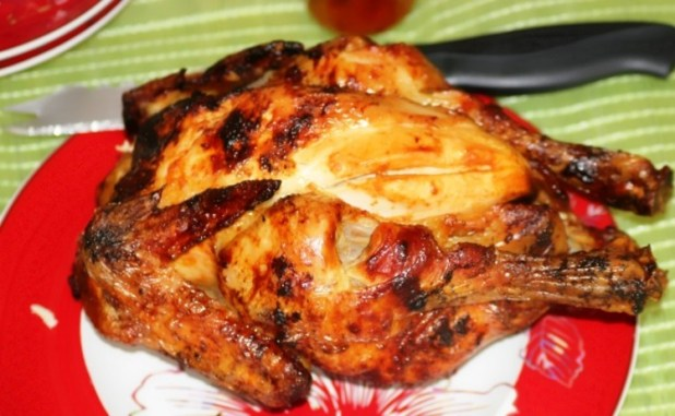 poulet roti à la tomate