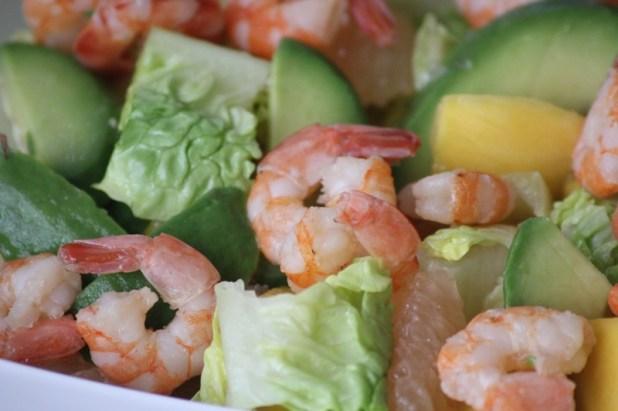 salade de crevettes à la mangue et pamplemousse (9)