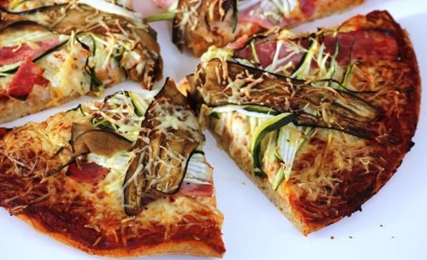 pizza à la farine de mil