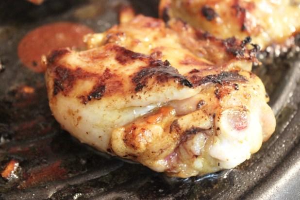 poulet grillé au curry