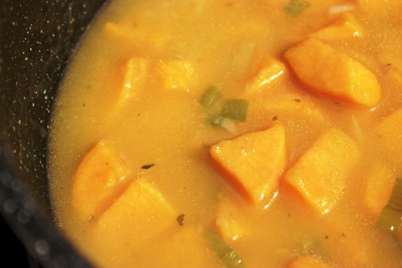 velouté de patate douce au gingembre et rhum