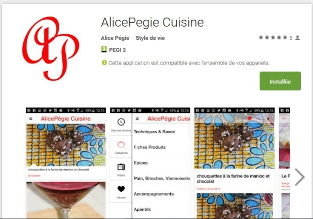 application android alicepegie