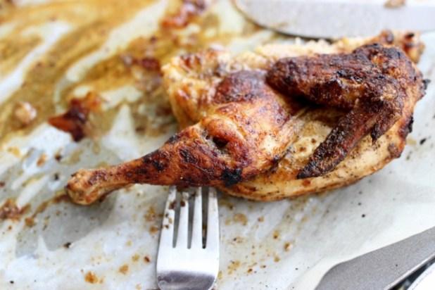 Coquelet rôti au miel et épices du mbongo