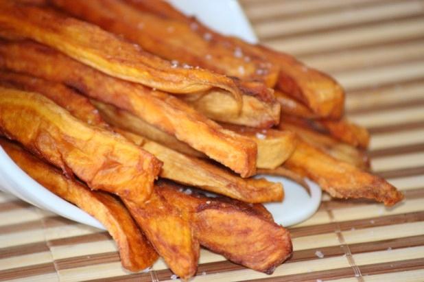 Frites de patates douces au four alice pegie cuisine - Frite de patate douce au four ...