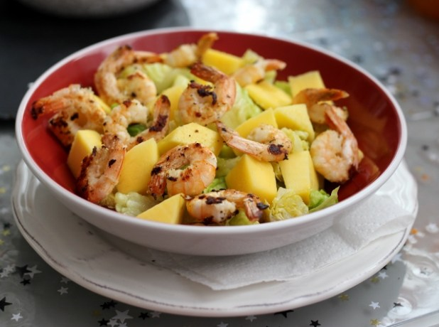 Salade de crevettes & mangue
