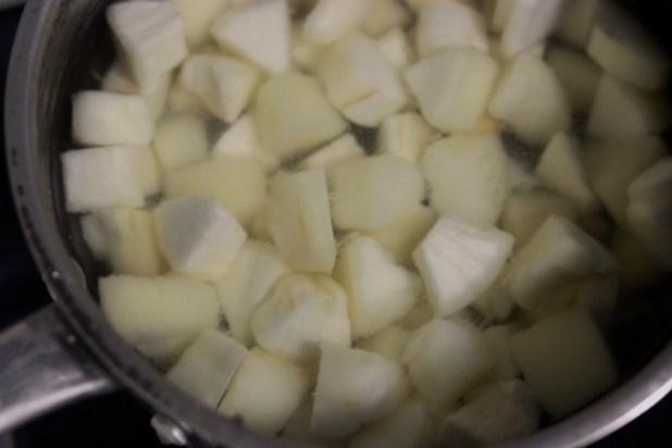 Dés de Manioc cuit trempés