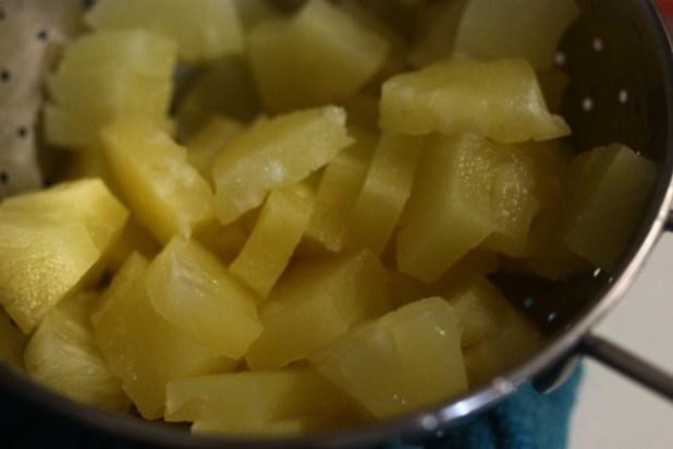 Gambas Sautées à l'Ananas & au Gingembre
