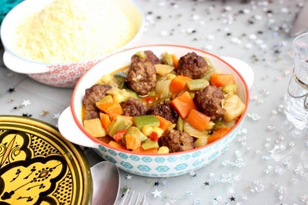 couscous aux boulettes de bœuf
