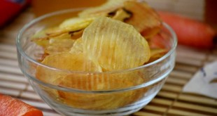 chips de pommes de terre au four