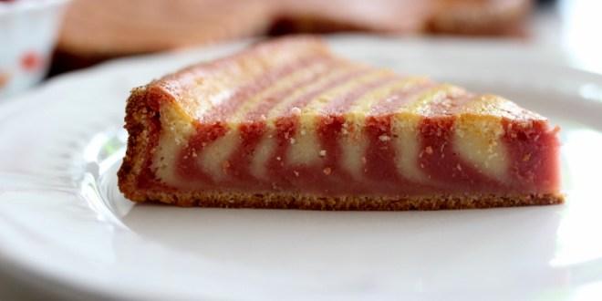 gâteau zébré à la fraise