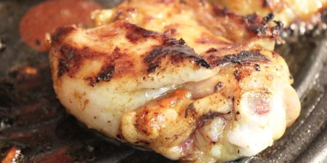 poulet grillé au miel et épices