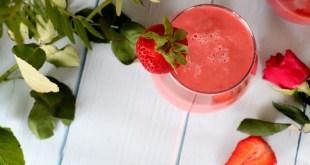 milkshake fraise et gingembre