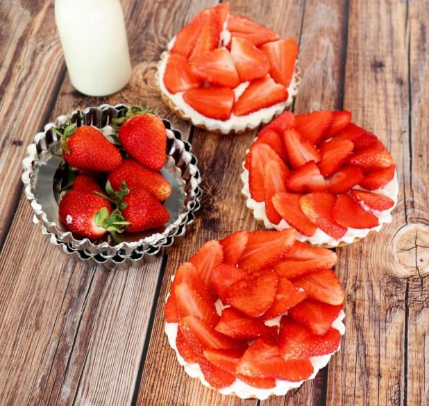 tartelettes aux fraises et mascarpone