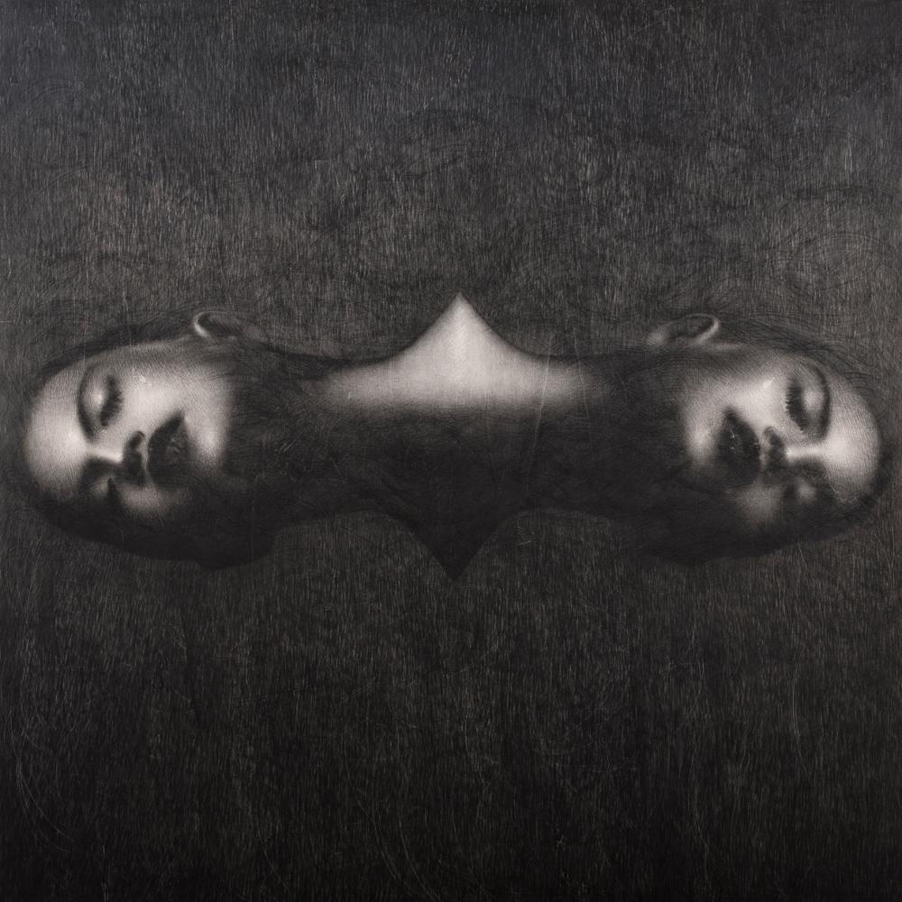 Omar Galliani: Grande disegno siamese, 2004