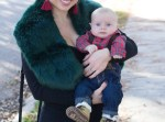 faux fur, stole, earrings, holidays, carters, osh kosh b'gosh, baby clothes, plaid, suspenders, baby